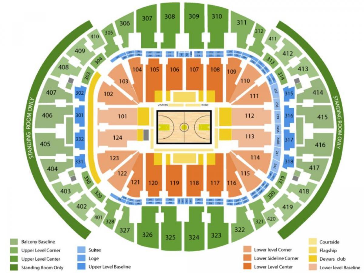 miami arena map - american airlines arena karte (florida - usa)