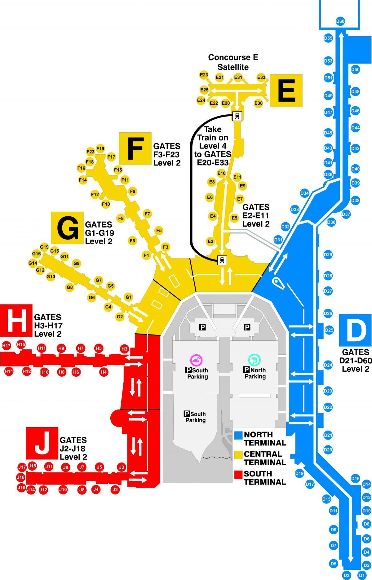 miami-terminal-karte - miami airport terminal map (florida
