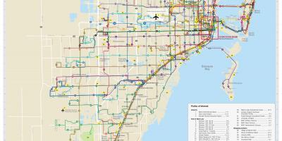 Miamimap Karten Miami Florida USA